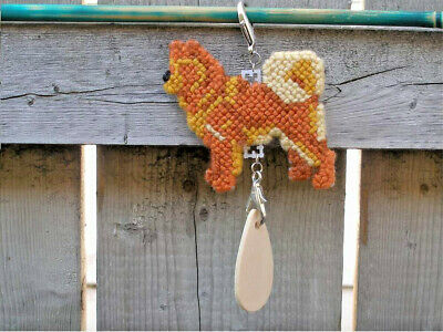 Finnish Spitz dog crate tag or hang anywhere, handmade art sign any day ornament