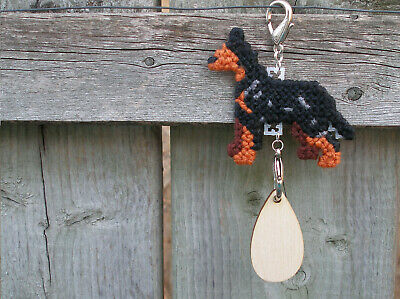 Manchester Terrier Toy dog crate tag or hang anywhere, handmade any day ornament