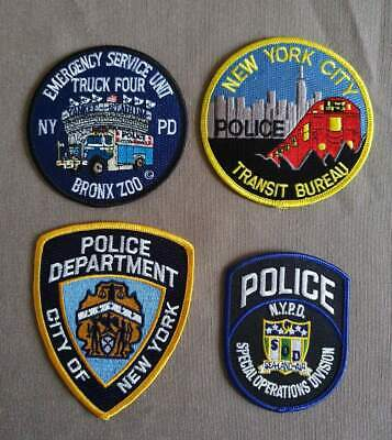 USA - 4 x Different NY Police Patches