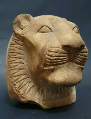 ANCIENT EGYPTIAN ANTIQUES Head Of Goddess SEKHMET Powerful Deities Limestone BC