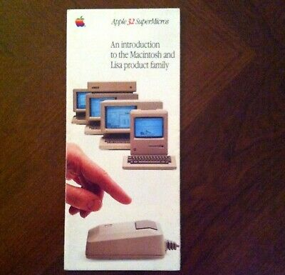 Apple Mac & Lisa brochure from 1984 - classic piece of Apple history!