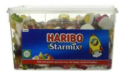 Haribo Starmix Sour Tub Party Mix Candy Retro Jelly Sweets Pack 1.75Kg NEW