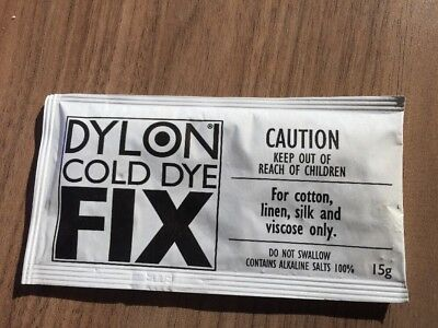 DYLON COLD DYE FIX 15g FABRIC CLOTHES DYE FIXER COLOURFAST DYES