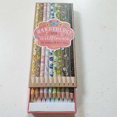 Wand Erlust & Wildflowers 10 Coloured Pencils