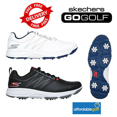 Skechers Go Golf Torque Mens Shoes Waterproof Black & White Lace Up Golf Shoes