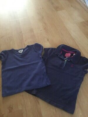 Joules And Mini Boden Tshirts Top Girl Navy Blue Age 3-4