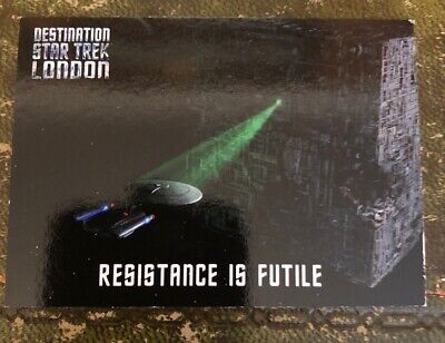 Star Trek Destination Star Trek London promo card SUPER RARE Resistance