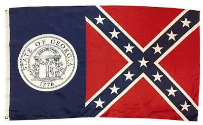 1956 Georgia State Flag 3x5 Printed Polyester - Reinforced header - NEW!