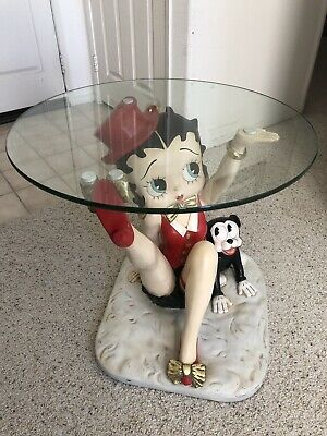 """Betty Boop....end Table....glass Top....22"""" Tall"""