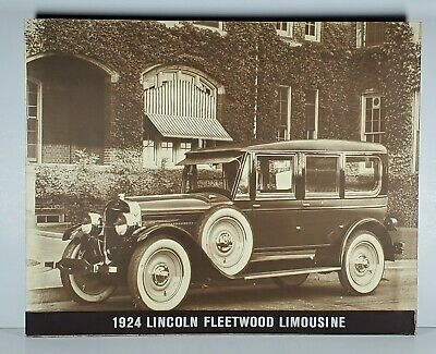 1924 LINCOLN FLEETWOOD LIMOUSINE  Wall Hanging Dealership Display 20X16