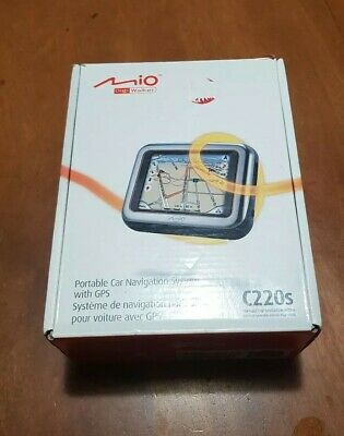 GPS Mio Digiwalker C220s Portable Navigation Unit 2GB SDHC