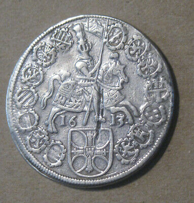 Teutonic Order (Germany) - 1613 Large Silver Thaler - Scarce