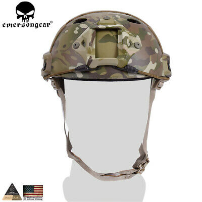Emerson Fast Helmet PJ type Tactical Adjustable Protective Combat Airsoft w/NVG