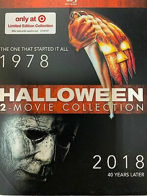 Halloween (Original,1978) & (2018) 2-Movie Collection (Blu-Ray) w/ Slipcover NEW