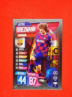 Carte card panini topps match attax 2019 2020 champions league ANTOINE GRIEZMANN