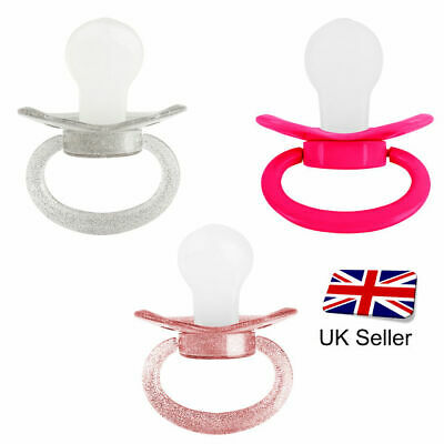 Coloured  Glitter Adult Pacifier - Dummy Soother for Adult Fetish Baby