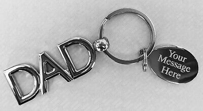 Personalised Key ring Fathers day Gift Key ring Key Chain Daddy Engraved gift