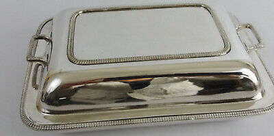 Vintage Harrison Brothers & Howson Silver Plated Lidded Serving Dish Tureen
