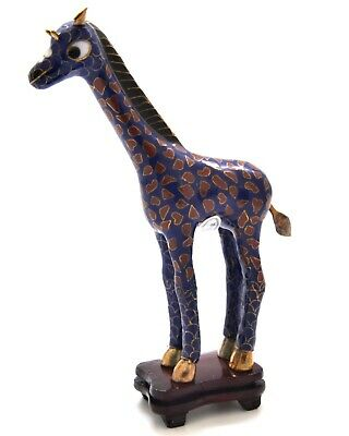 Vintage Cloisonne Giraffe. Unique Pattern & Lovely Collectable. Hand Made