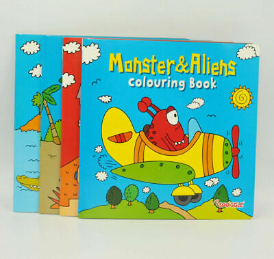 Various Children's Colouring Books Fun Kids Paint Book Drawing Book Doodle Book
