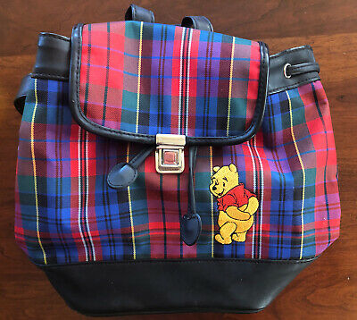 Disney Winnie the Pooh Plaid Mini Backpack! Adorable