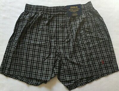 Polo Ralph Lauren Men's Smith Plaid Patterned Boxers Classic Fit Size Large NWT