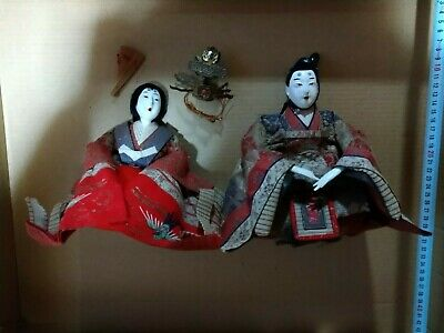 Japan antique 11 hina  dolls ! Dairibina  empress Meiji  seamail discount!!!