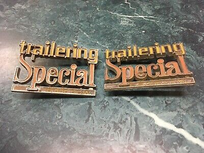 76 77 78 79 80 Chevrolet Trailering Special Emblems 8000#