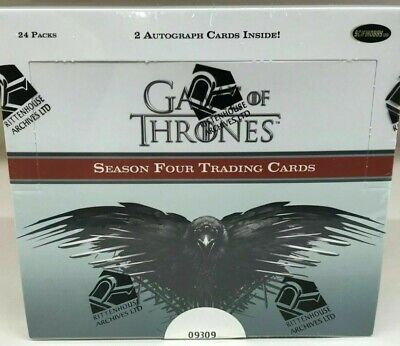 Game Of Thrones Season Four Trading Cards Box (Rittenhouse 2015) - BRAND NEW