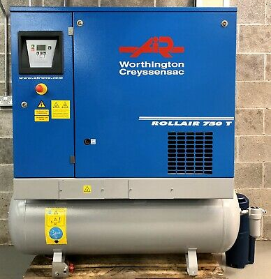 Worthington RLR750T Receiver Mounted Rotary Screw Compressor With Dryer! 24Cfm!