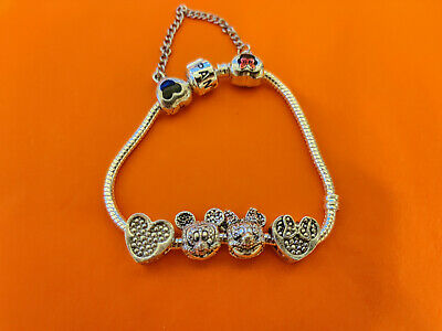 19cm Pandora Disney Bracelet with 4 DISNEY CHARMS & SAFETY CHAIN