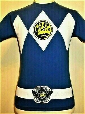 Mighty Morphin Power Rangers Blue Ranger Costume Billy Adult Front Print T-Shirt