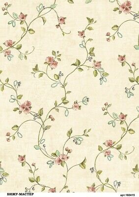 Rice paper decoupage ad174 napkin vintage background flowers Decoupage supplies