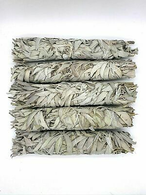 "5 X Large White Sage Smudge Stick 8""To 9"" Jumbo (House Cleansing Negative Energy"