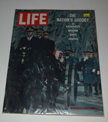 9 LIFE Magazine February 10 1967~ Nations Good By To Grissom Chaffee ~ White