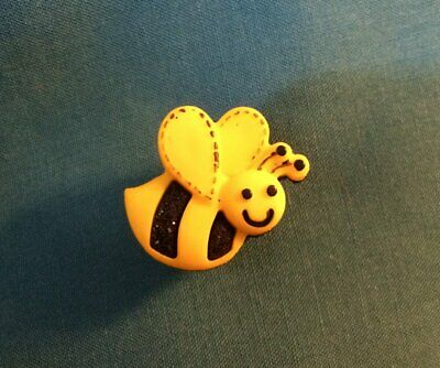 Cute HAPPY Honey BEE Bumble BEE Buzz BEE Insect Clog Shoe Charms Save the BEES