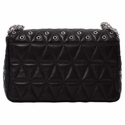 MICHAEL KORS SLOAN Grometted QUILTED LEATHER CHAIN SHOULDER BAG. NWT. AUTHENTIC