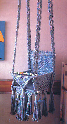 Make This Lovely Macrame Swing For Your Baby - Pattern Only - In Pdf Format