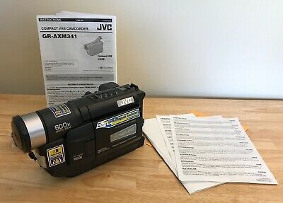 Jvc Compact Vhs Camcorder Gr Sxm740u Digital Lcd 600x Zoom W Extras Tested 129 95 Picclick