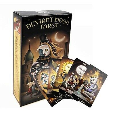 Deviant Moon Tarot Deck 78 Cards Divination Prophet Cards Family & Party Playing