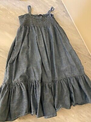 Polo Ralph Lauren Big Girls Blue Denim Dress Size 10