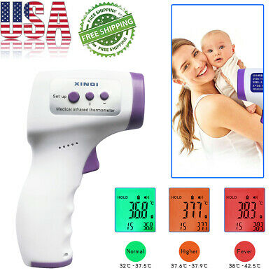 IR Infrared Digital Forehead Thermometer Non-Contact Baby&Adult Body Thermometer