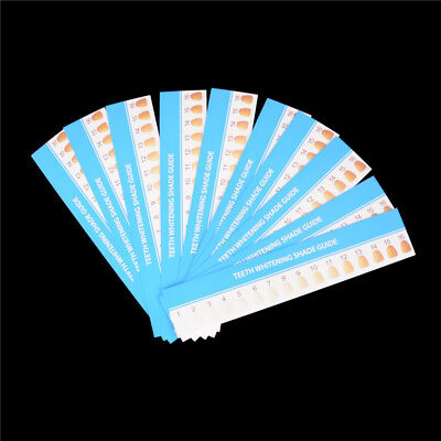 10pcs Teeth Whitening Paper 3D Shade Guide Card Dental Supplies JF