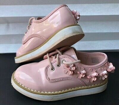 Beautiful Next Girls Pink Floral Detailing Shoes Size UK 9 Worn Once
