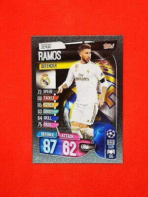 Carte card panini topps match attax 2019 2020 champions league SERGIO RAMOS