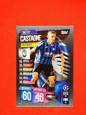 Carte card panini topps match attax 2019 2020 champions league TIMOTHY CASTAGNE