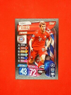 Carte card panini topps match attax 2019 2020 champions league THOMAS MULLER