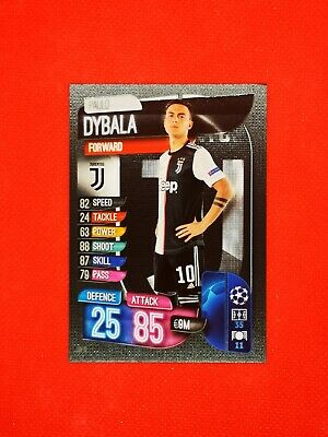 Carte card panini topps match attax 2019 2020 champions league PAULO DYBALA