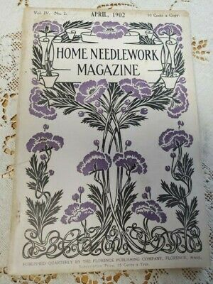 Home Needlework Magazine April 1902 Purses and Bags Sofa Pillows Lacemaking