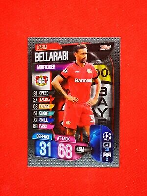 Carte card panini topps match attax 2019 2020 champions league KARIM BELLARABI